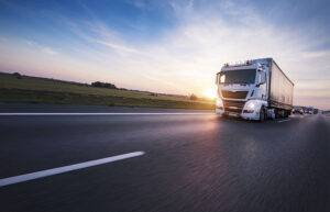 Road Haulage truck on motorway