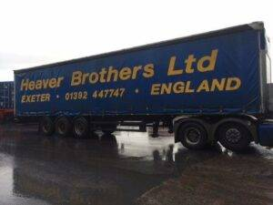 side view of Heaver Bros trailer