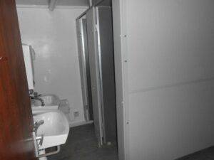 TOILETS INSIDE 32' x 10' ANTI VANDAL CABIN