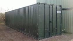 self storage container at Heaver Bros yard in Exeter