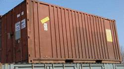 20 FT X 8 FT USED SHIPPING CONTAINER