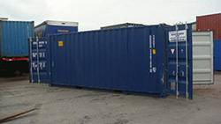 shipping container in yard at Heaver Bros Ltd yard in Exeter