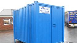 BLUE ANTI VANDAL PORTACABIN