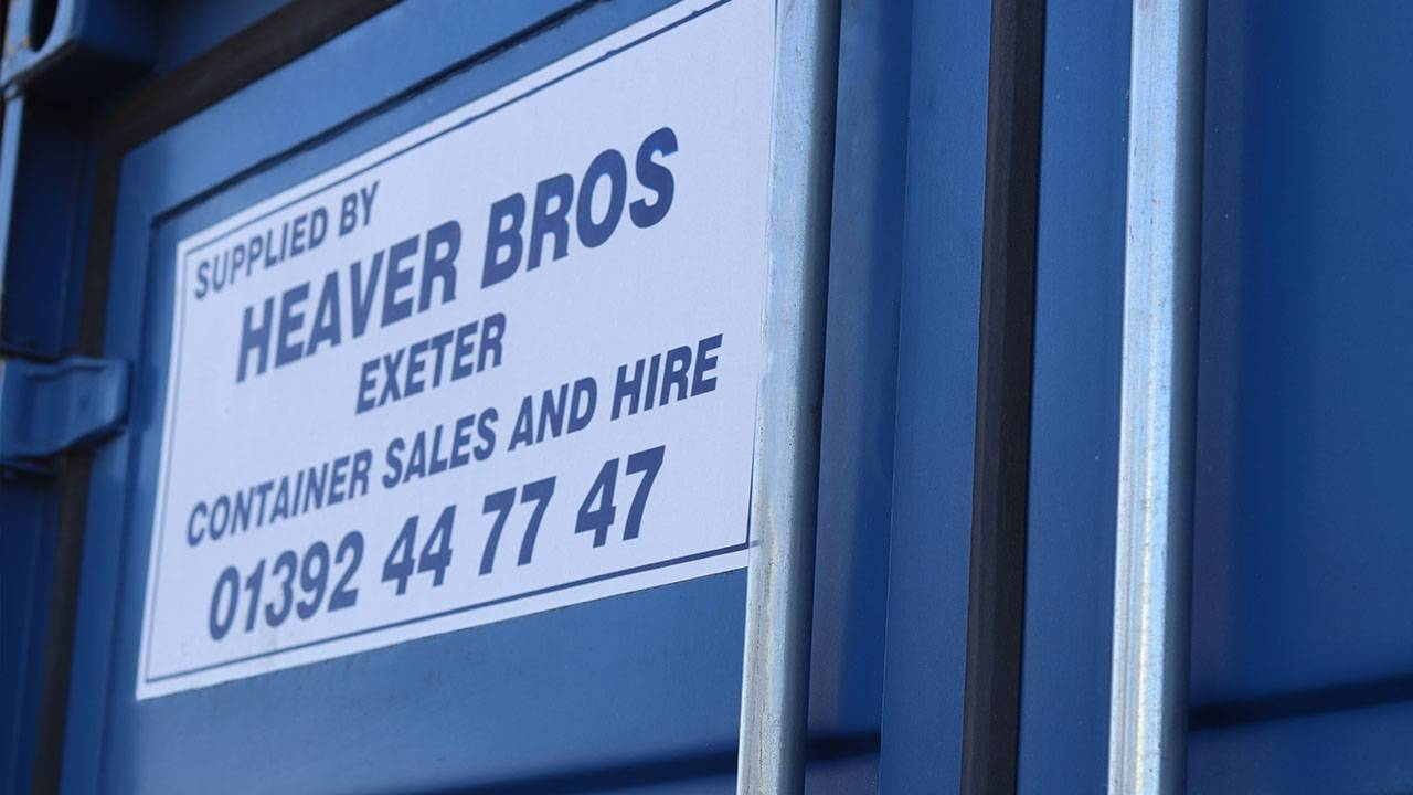 Heaver Bros shipping container