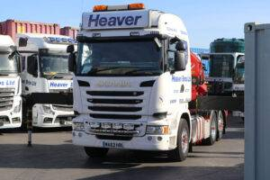 lorry mounted crane on heaver bros lorry