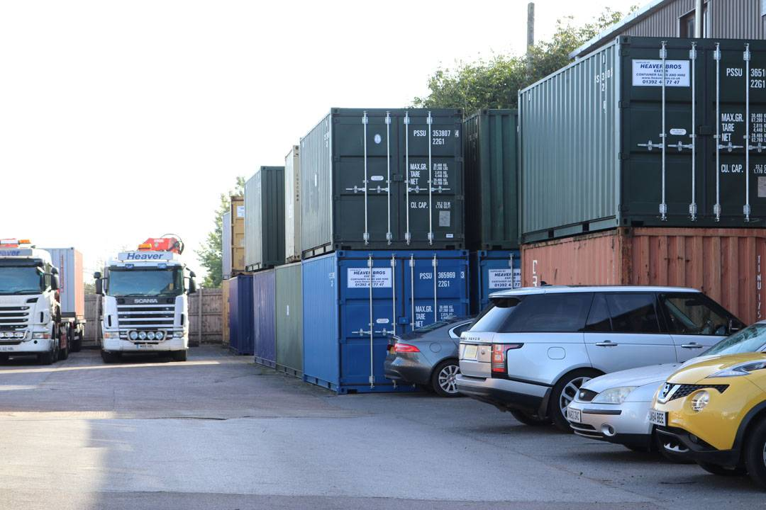 Heaver Bros Ltd Exeter yard with self storage units
