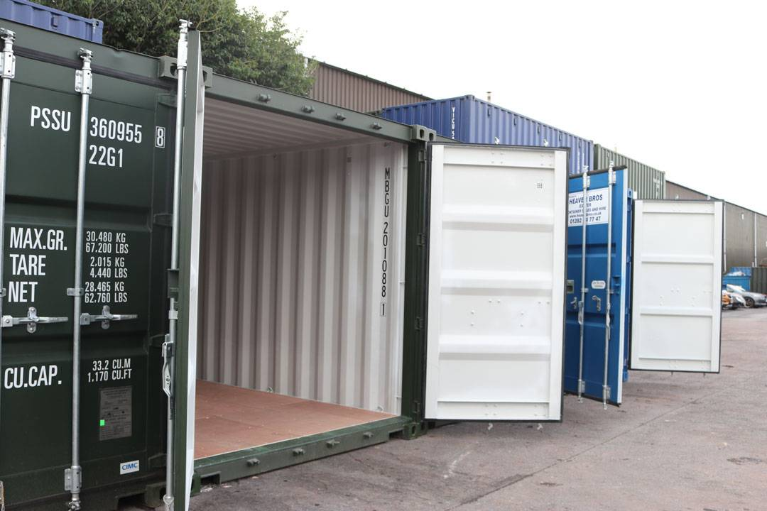 self storage shipping containers with doors open