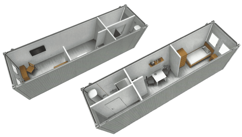 example of shipping container conversion