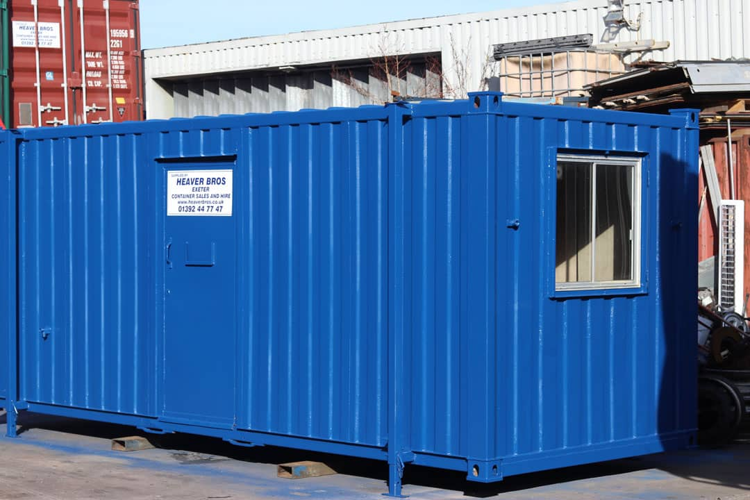 shipping container converted into an office