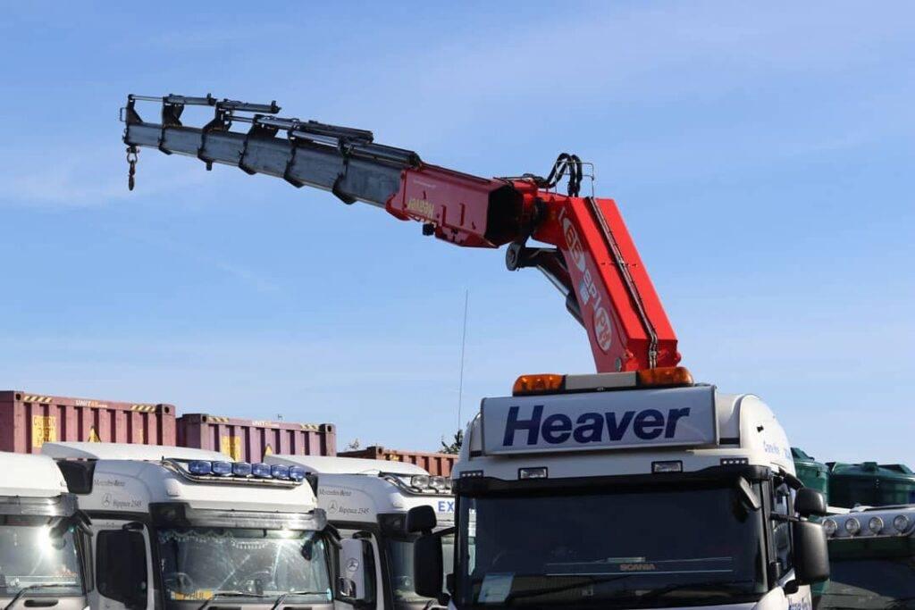 hiab crane on lorry