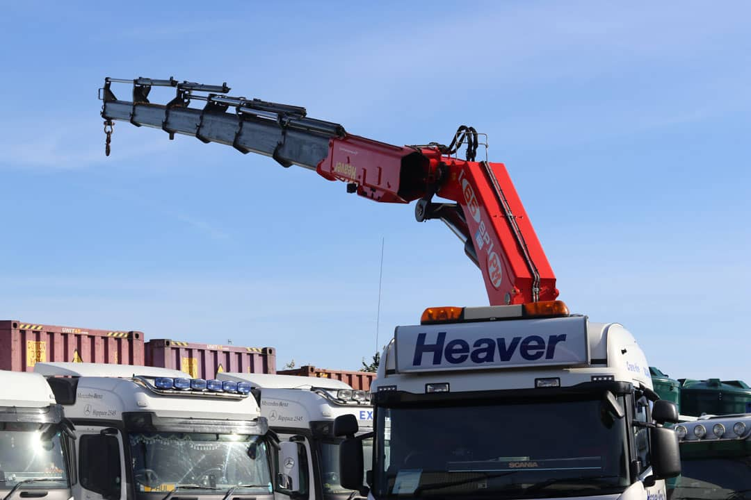 hiab crane on lorry