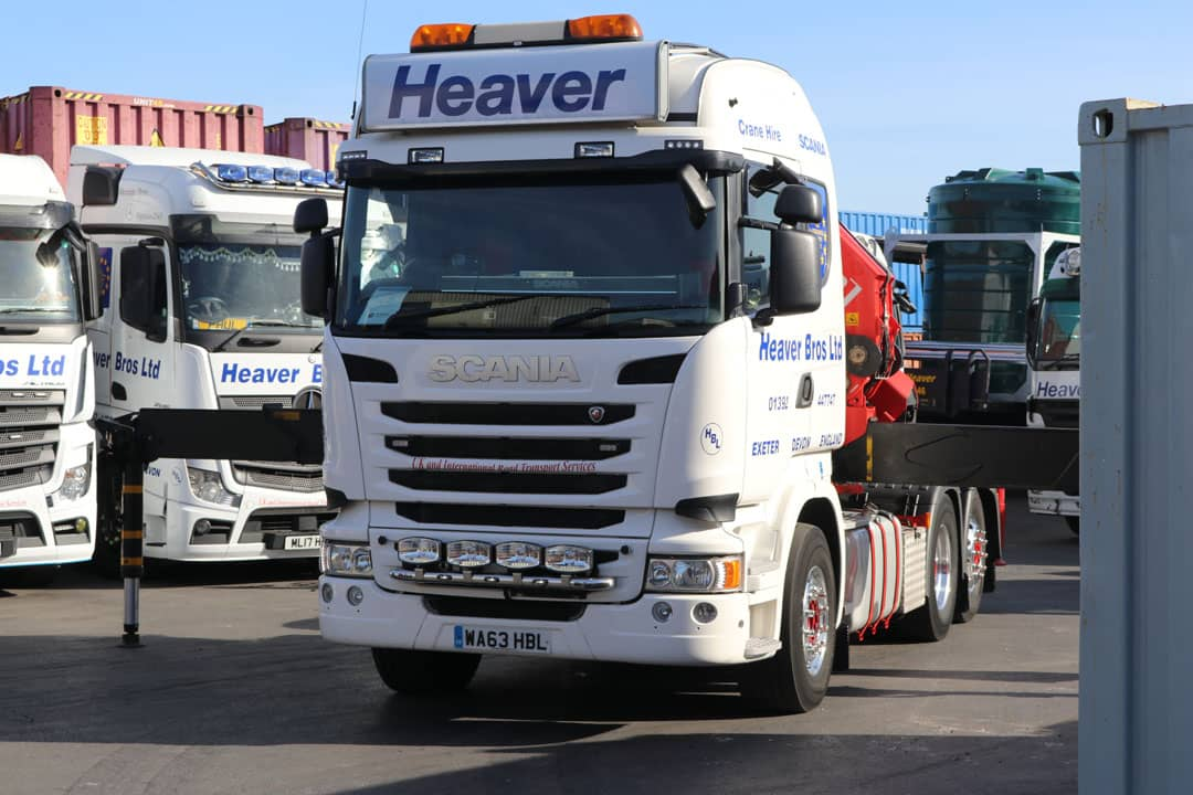 lorry mounted crane on heaver bros lorry