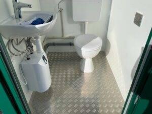 inside portable toilet