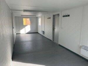 interior of 32ft x 10ft antivandal office