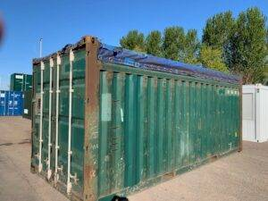 open top shipping container